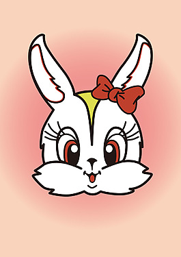 可愛卡通小兔子