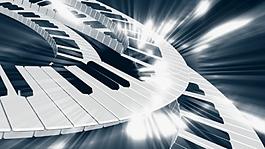 鋼琴琴鍵視頻背景