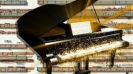 鋼琴視頻素材背景