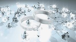 婚庆浪漫钻石戒指视频背景