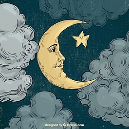 月亮臉背景