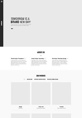 网站布局UI首页设计首页模板