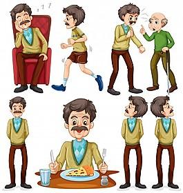 剪輯卡通食品老人