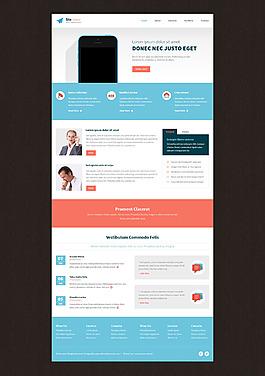 蓝色科技网页UI首页设计