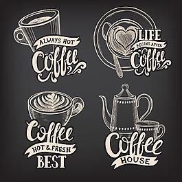 手繪咖啡商標