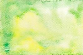 绿色和黄色水彩背景