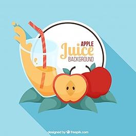 蘋果汁背景