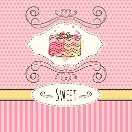 蛋糕的背景設計