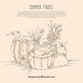 水果素描背景