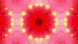 紅色花瓣元素視頻背景