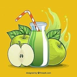 蘋果汁的底色