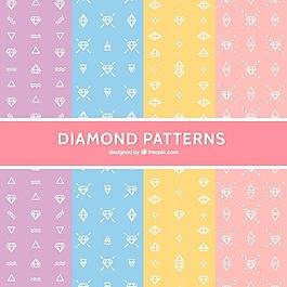 粉彩中平面钻石图案的多样性