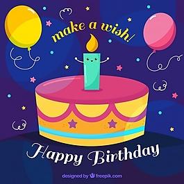 生日蛋糕背景蜡烛