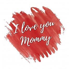 我愛你母親節賀卡