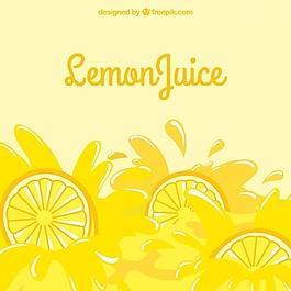 美味檸檬水的背景