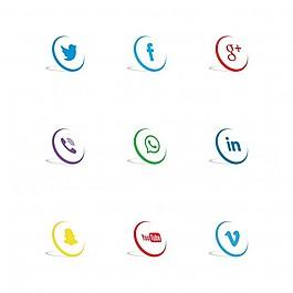 三維社交網絡圖標