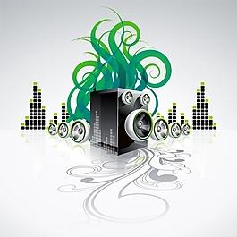 綠色背景音樂背景