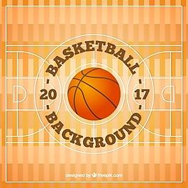 球背景籃球場
