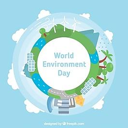 世界环境日背景与可再生能源