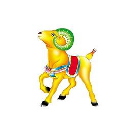 3D黄色小羊元素