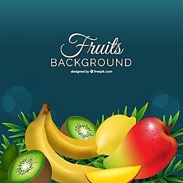 逼真的水果背景