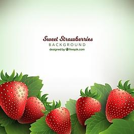 美味草莓的背景