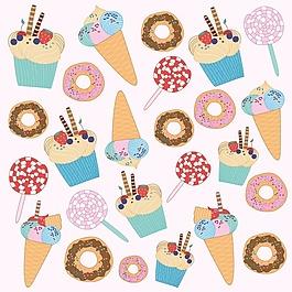 冰淇淋圖案設計