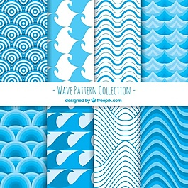 藍色的波浪紋