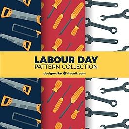 使用工具的勞動日模式