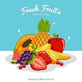 新鮮水果的背景