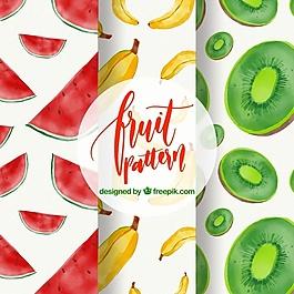 水彩水果圖案