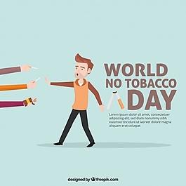 好的反吸烟日背景