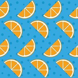 橙色的圖案設計