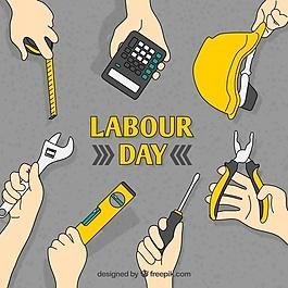 手工具日勞動背景