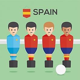 桌上足球西班牙球員