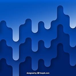平面设计中的蓝色抽象背景