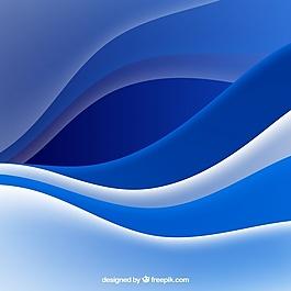 藍色波背景
