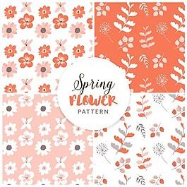 春天的花卉圖案