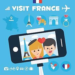 法国背景设计