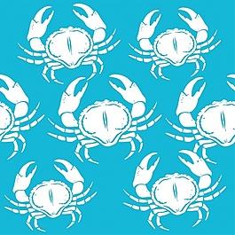 螃蟹圖案設計