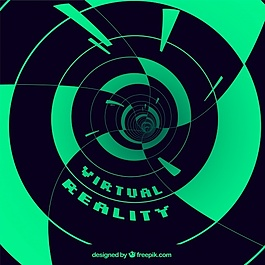 抽象形状的虚拟现实背景