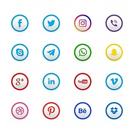 16個社交網絡圖標集