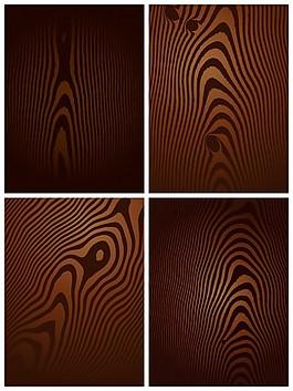 黑木材紋理的收集