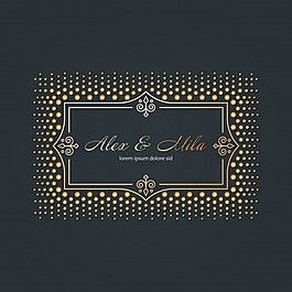 黑色背景婚礼卡片