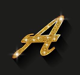 金色的字母背景