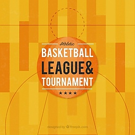 平面设计中篮球场的背景