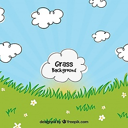 草背景裝飾云