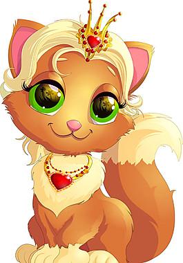 戴皇冠的卡通狐狸图片