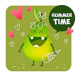 夏季水果背景設計