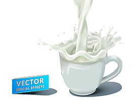 卡通牛奶杯子圖片